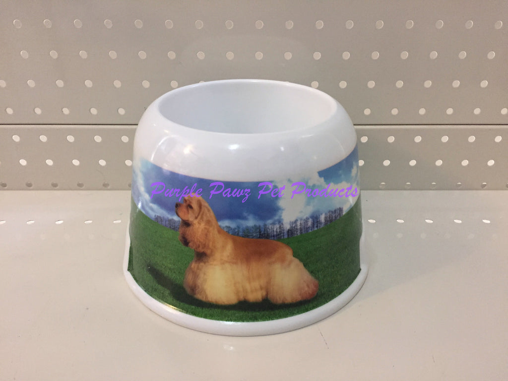 ~MELAMINE / COCKER SPANIEL / DOG BOWL~