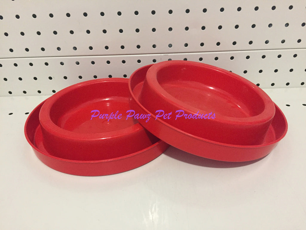 ~ANT FREE / DOG OR CAT BOWLS / 2PK / RED~