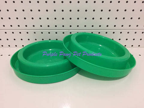 ~ANT FREE / DOG OR CAT BOWLS / 2PK / GREEN~