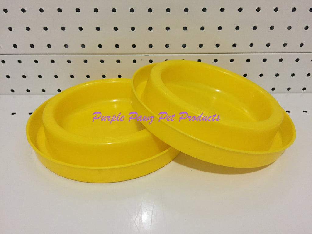 ~ANT FREE / DOG OR CAT BOWLS / 2PK / YELLOW~