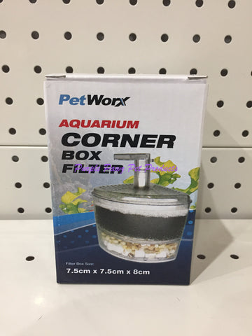 ~PETWORX / CORNER FILTER BOX / 75MM x 75MM x 80MM~
