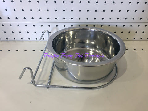 ~BIRD/PET BOWL / STAINLESS STEEL / COOP CUP / HOOK ON / 18.5CM DIA~