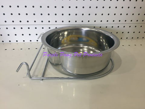 ~BIRD/PET BOWL / STAINLESS STEEL / COOP CUP / HOOK ON / 20.8CM DIA~