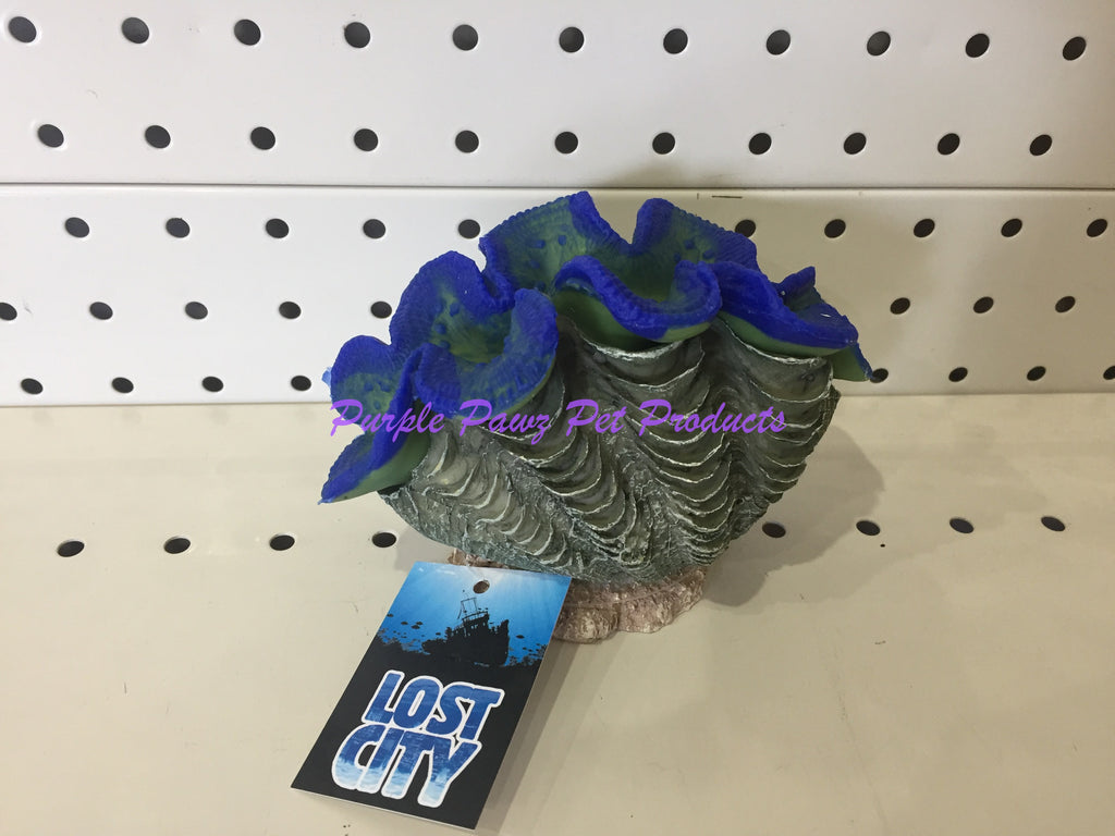 ~BLUE CORAL / AQUARIUM ORNAMENT / 15CM x 10CM x 11CM~