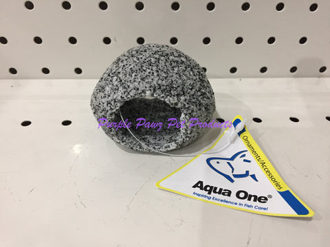 ~AQUA ONE / AQUARIUM ORNAMENT / CAVE ROUND / 9.5CM x 8.5CM x 5.3CM / SMALL~