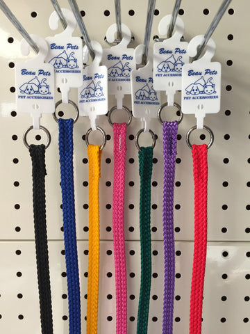 ~BEAU PETS / NYLON / DOG SLIP COLLAR/CHOKER / 7 COLOURS / 10MM x 35CM~