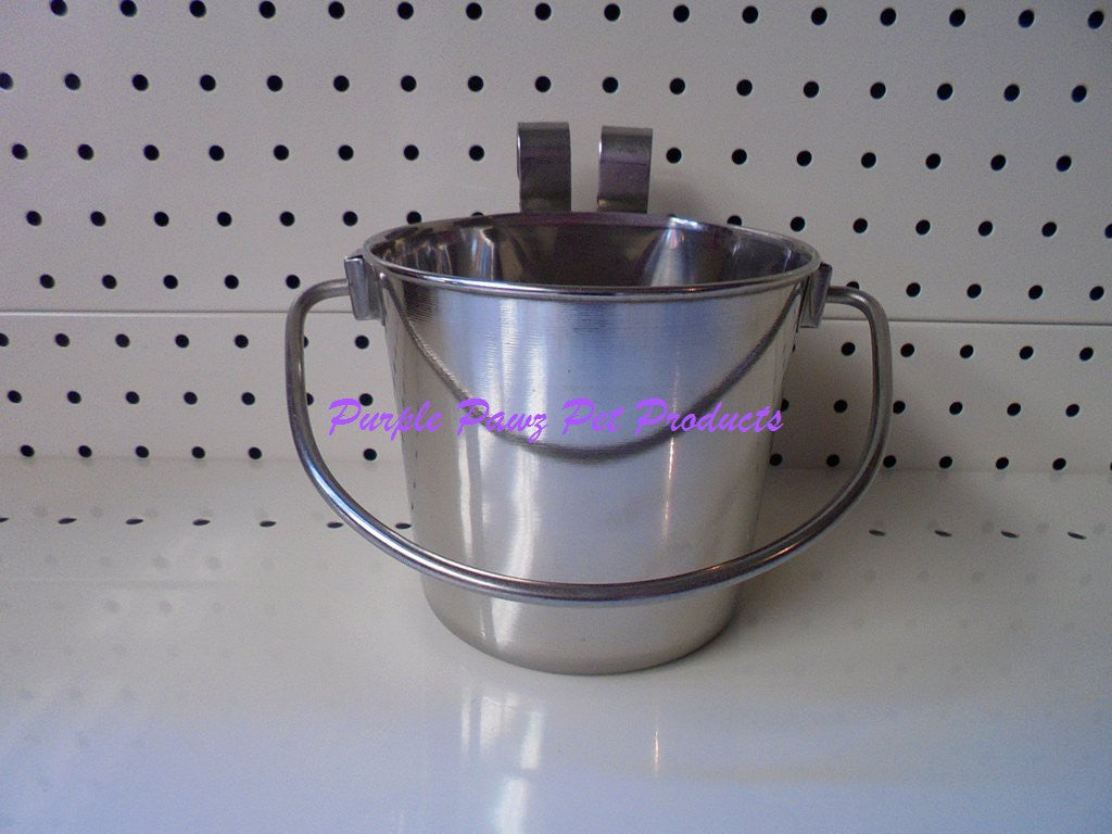 ~HOOK ON BUCKET / DOG BOWL / STEEL / 946ML~