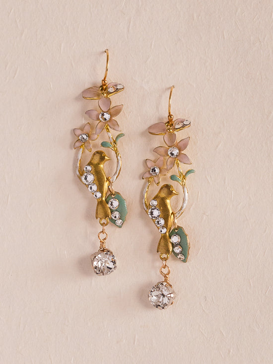 LOVE BIRDS - Delicate Earrings *Available in gold and silver color*