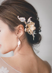 PAIGE - Gold Flower Headpiece