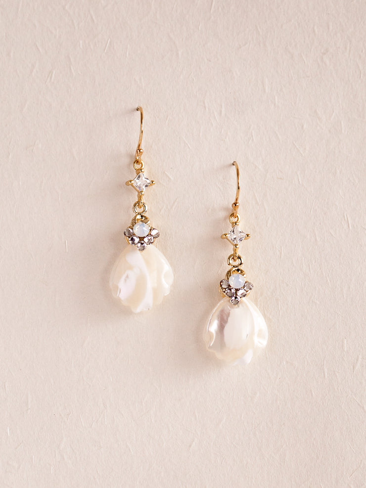 ALICE - Mother Of Pearl Pendant Earrings