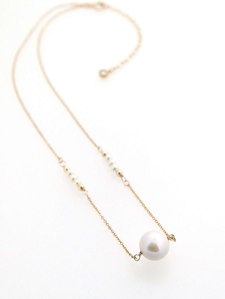 Hong Kong Wedding Necklace | EVALYNN - High Quality Precious Single Pearl Necklace | Hong Kong Handmade Wedding Accessories, Bridal Headpiece and Earrings | Down The Aisle Atelier