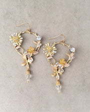 ADELINE - Enchanted Garden Flowers Earrings *Available in gold and silver color*