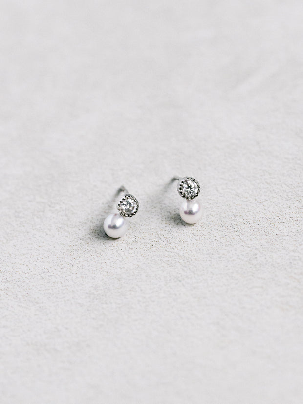 CARLI Baby Akoya Pearl Earrings