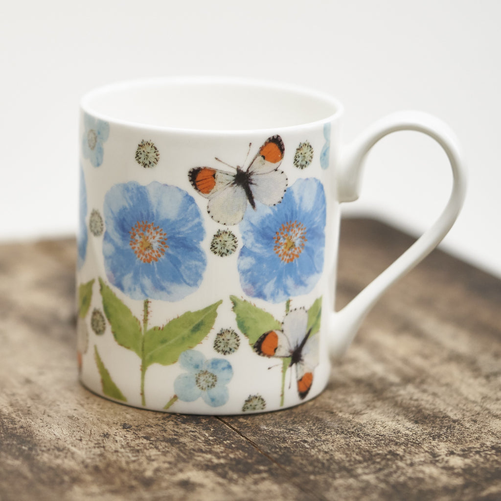 Mug - Meconopsis with Butterfly design