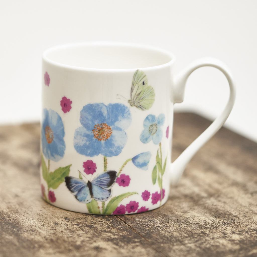 Mug - Meconopsis with Pink Flower design