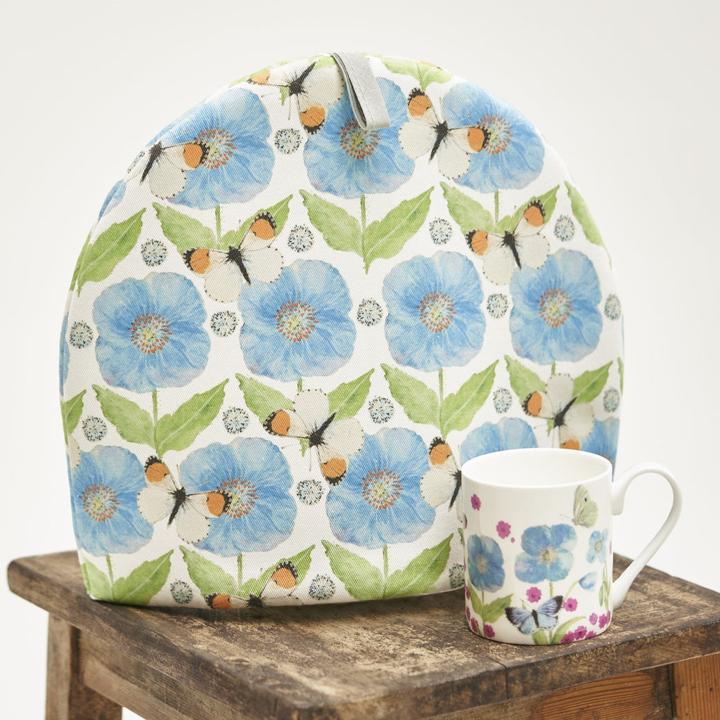 Tea Cosy - Meconopsis with Butterfly design