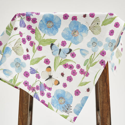 Tea Towel - Meconopsis with Pink Flower design