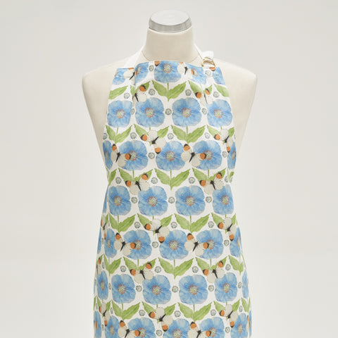 Apron - Meconopsis with Butterfly design