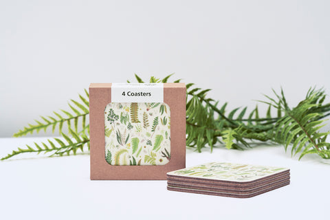 Coaster Set - Fern design