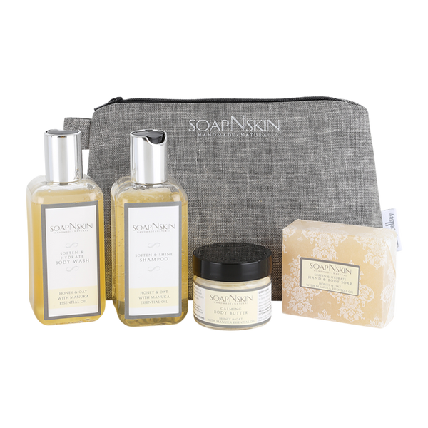 Honey & Oat with Manuka Essential Oil Wash bag Gift Set