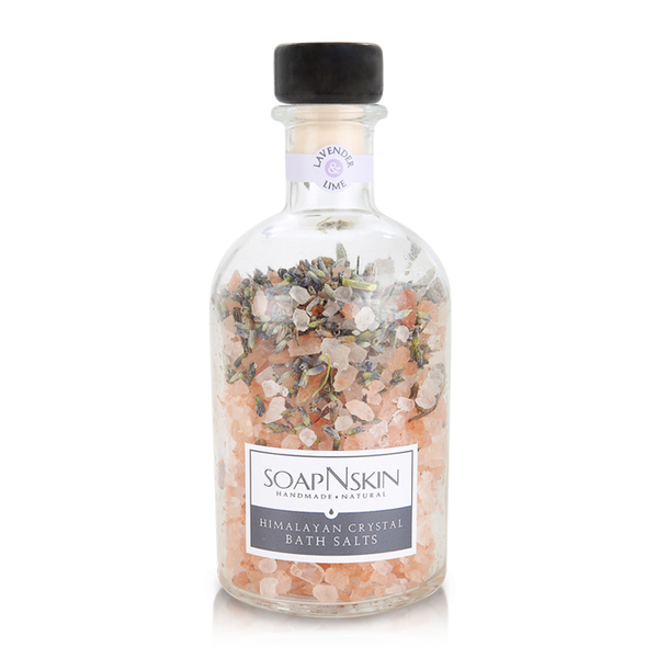 Limited Edition Lavender & Lime Himalayan Crystal Bath Salts