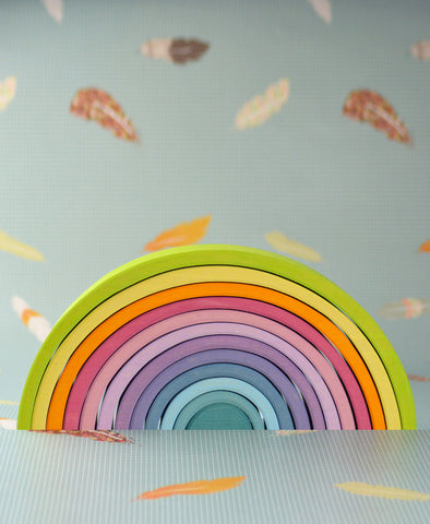 Grimm's Spiel and Holz Extra Large Pastel Tunnel / Rainbow