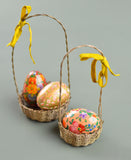 Brass Wire Basket Ornament 15cm
