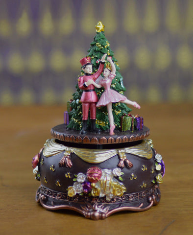 Goodwill Musical Nutcracker Ballet Christmas Tree Wind Up - 15.5cm