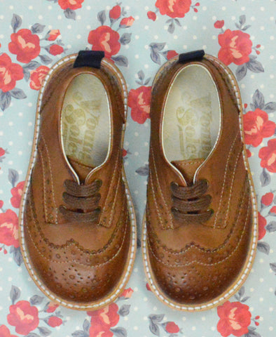 Young Soles Brando Brogue Tan