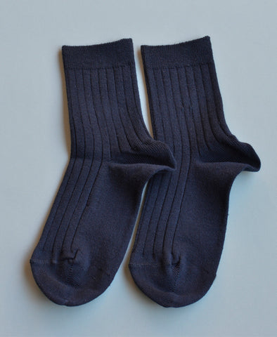 Condor Ankle Ribbed Sock (#480 Marino Navy)