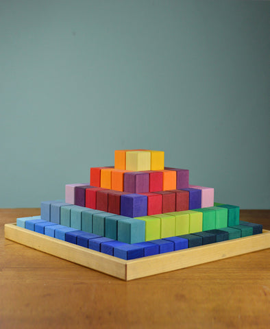 Grimm's Spiel and Holz Stepped Pyramid - Small