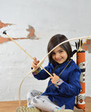 Helga Kreft Wooden Bow with 3 Arrows (suction cups) and Fabric Quiver