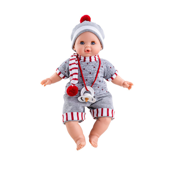 Paola Reina Alex Crying Doll Red Scarf - Soft Body