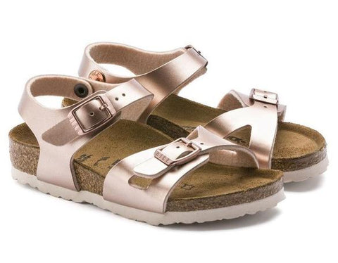 Birkenstock Rio Kids Metallic Copper NARROW