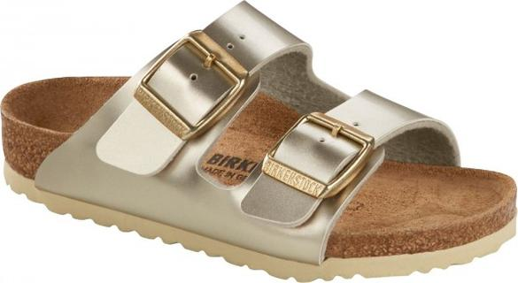 Birkenstock Arizona Kids Metallic Gold NARROW