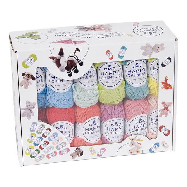 DMC Happy Chenille Wool Box Set - 25 Balls