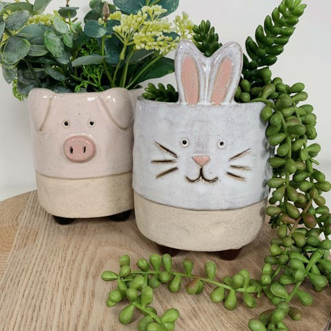 Urban Bunny Planter with Legs: Sand