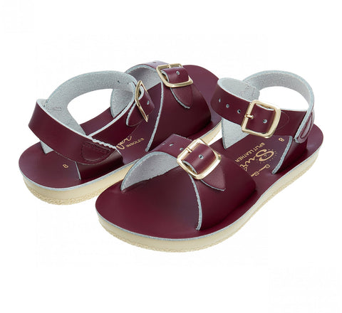 Salt Water Sun-San (thick sole) Surfer Sandal - Claret