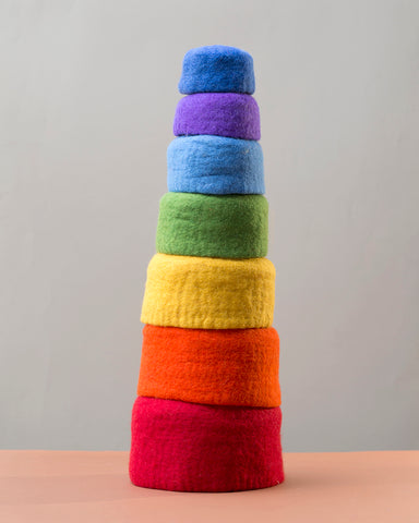 Papoose Rainbow Stacking Nesting Bowls