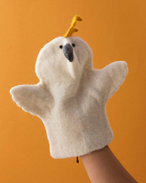 Papoose Hand Puppet Cockatoo