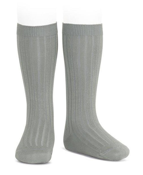 Condor Knee Hi Ribbed Sock (#219 Niebla)