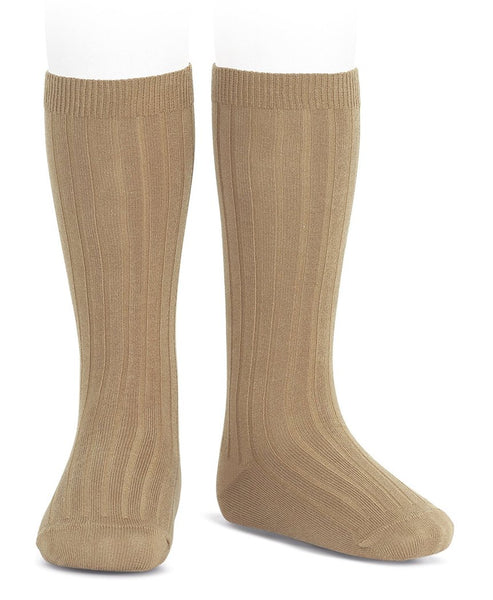 Condor Knee Hi Ribbed Sock (#326 Camel)