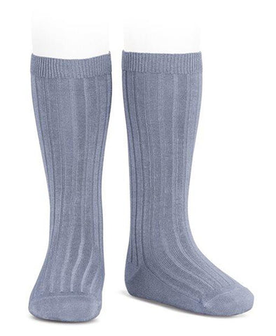 Condor Knee Hi Ribbed Sock (#402 Acero)