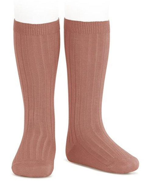 Condor Knee Hi Ribbed Sock (#126 Terracota)