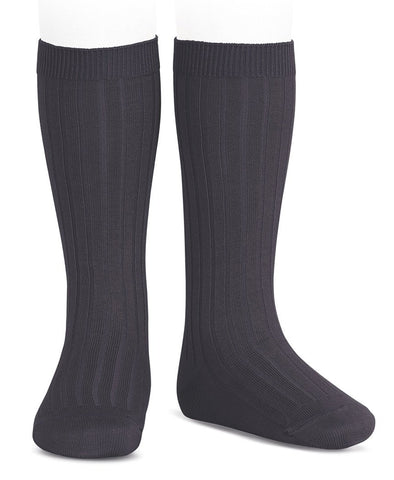 Condor Knee Hi Ribbed Sock (#257 Carbon)