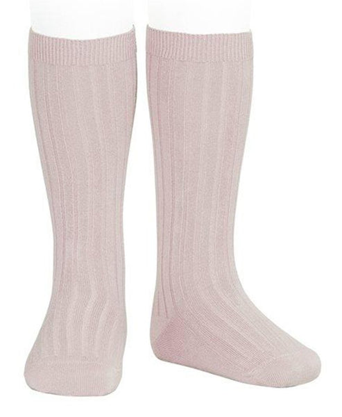 Condor Knee Hi Ribbed Sock (#544 Rosa Empo)
