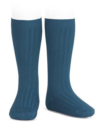 Condor Knee Hi Ribbed Sock (#453 Oceano)
