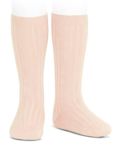 Condor Knee Hi Ribbed Sock (#674 Nude Pink)