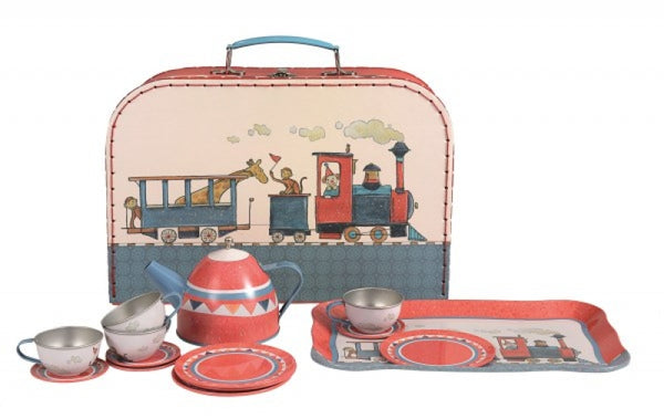 Egmont Tin Tea Set: Train