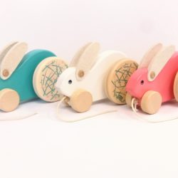 Bajo - Rabbit large - Mint/White